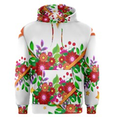 Heart Flowers Sign Men s Pullover Hoodie
