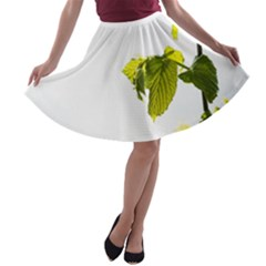 Leaves Nature A Line Skater Skirt