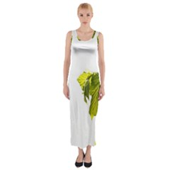 Leaves Nature Fitted Maxi Dress