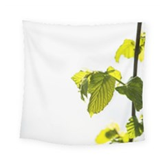 Leaves Nature Square Tapestry (small) by Nexatart