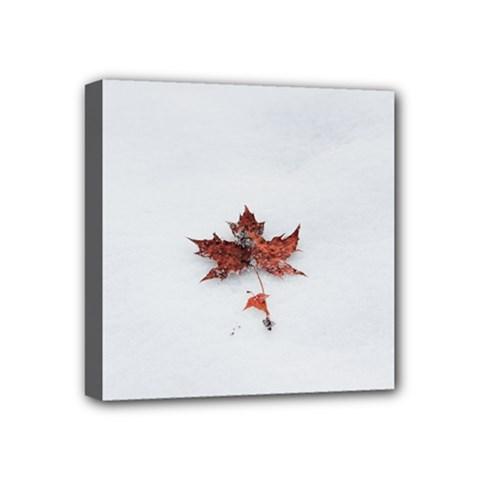 Winter Maple Minimalist Simple Mini Canvas 4  X 4  by Nexatart