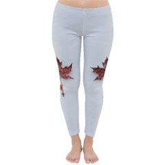 Winter Maple Minimalist Simple Classic Winter Leggings