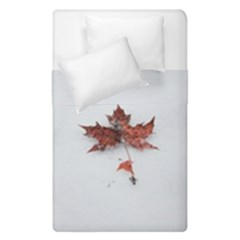 Winter Maple Minimalist Simple Duvet Cover Double Side (single Size)