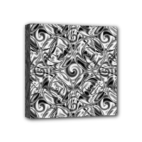 Gray Scale Pattern Tile Design Mini Canvas 4  X 4