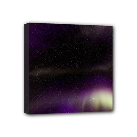 The Northern Lights Nature Mini Canvas 4  X 4  by Nexatart