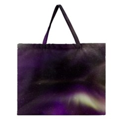 The Northern Lights Nature Zipper Large Tote Bag by Nexatart