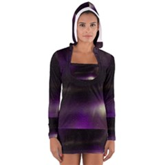 The Northern Lights Nature Women s Long Sleeve Hooded T Shirt