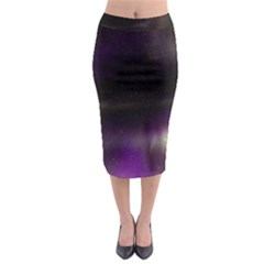 The Northern Lights Nature Midi Pencil Skirt by Nexatart