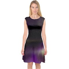 The Northern Lights Nature Capsleeve Midi Dress