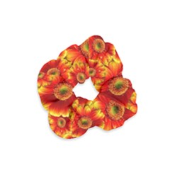 Gerbera Flowers Nature Plant Velvet Scrunchie