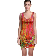 Background Texture Colorful Sleeveless Bodycon Dress