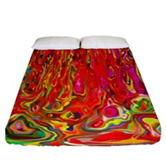 Background Texture Colorful Fitted Sheet (california King Size)