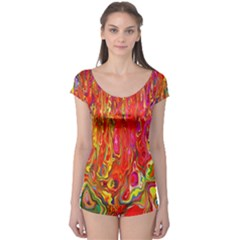 Background Texture Colorful Boyleg Leotard