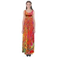 Background Texture Colorful Empire Waist Maxi Dress