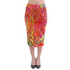 Background Texture Colorful Midi Pencil Skirt by Nexatart