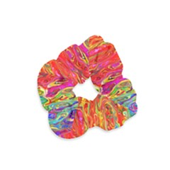Background Texture Colorful Velvet Scrunchie