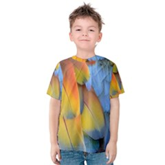 Spring Parrot Parrot Feathers Ara Kids  Cotton Tee