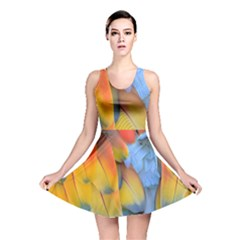 Spring Parrot Parrot Feathers Ara Reversible Skater Dress