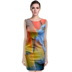 Spring Parrot Parrot Feathers Ara Classic Sleeveless Midi Dress by Nexatart
