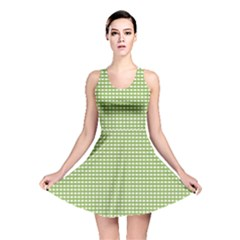 Gingham Check Plaid Fabric Pattern Reversible Skater Dress