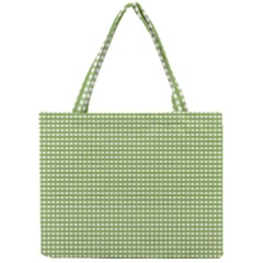 Gingham Check Plaid Fabric Pattern Mini Tote Bag