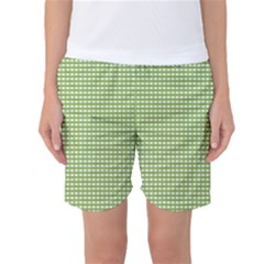 Gingham Check Plaid Fabric Pattern Women s Basketball Shorts