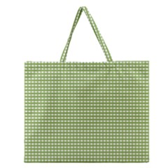 Gingham Check Plaid Fabric Pattern Zipper Large Tote Bag by Nexatart