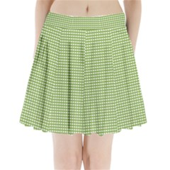 Gingham Check Plaid Fabric Pattern Pleated Mini Skirt