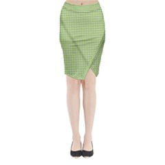 Gingham Check Plaid Fabric Pattern Midi Wrap Pencil Skirt by Nexatart