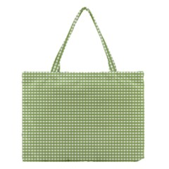 Gingham Check Plaid Fabric Pattern Medium Tote Bag