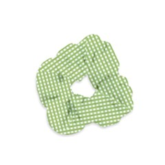 Gingham Check Plaid Fabric Pattern Velvet Scrunchie