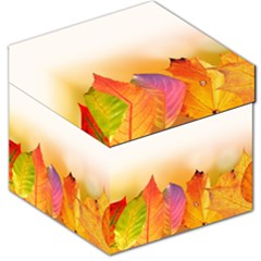 Autumn Leaves Colorful Fall Foliage Storage Stool 12   by Nexatart