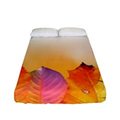 Autumn Leaves Colorful Fall Foliage Fitted Sheet (full/ Double Size) by Nexatart
