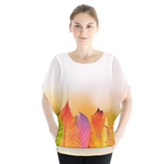 Autumn Leaves Colorful Fall Foliage Blouse
