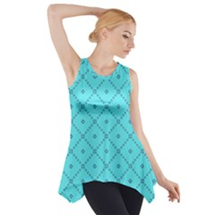 Pattern Background Texture Side Drop Tank Tunic