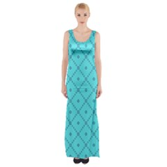Pattern Background Texture Maxi Thigh Split Dress