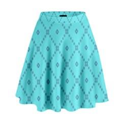 Pattern Background Texture High Waist Skirt by Nexatart
