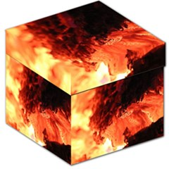 Fire Log Heat Texture Storage Stool 12