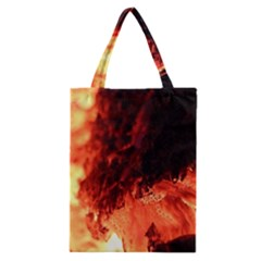 Fire Log Heat Texture Classic Tote Bag by Nexatart
