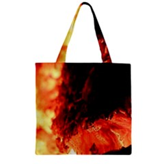 Fire Log Heat Texture Zipper Grocery Tote Bag by Nexatart