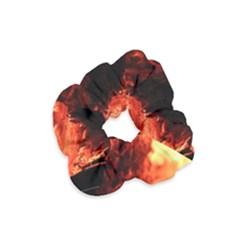 Fire Log Heat Texture Velvet Scrunchie