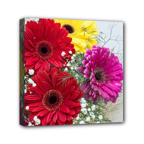 Flowers Gerbera Floral Spring Mini Canvas 6  X 6  by Nexatart