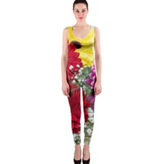Flowers Gerbera Floral Spring Onepiece Catsuit