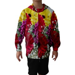 Flowers Gerbera Floral Spring Hooded Wind Breaker (kids)