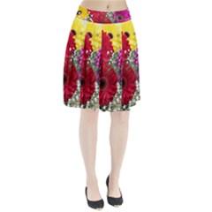 Flowers Gerbera Floral Spring Pleated Skirt