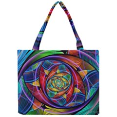 Eye Of The Rainbow Mini Tote Bag by WolfepawFractals