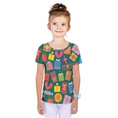 Presents Gifts Background Colorful Kids  One Piece Tee