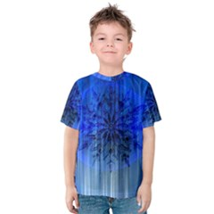 Background Christmas Star Kids  Cotton Tee