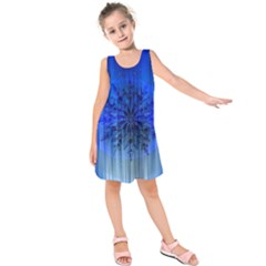 Background Christmas Star Kids  Sleeveless Dress