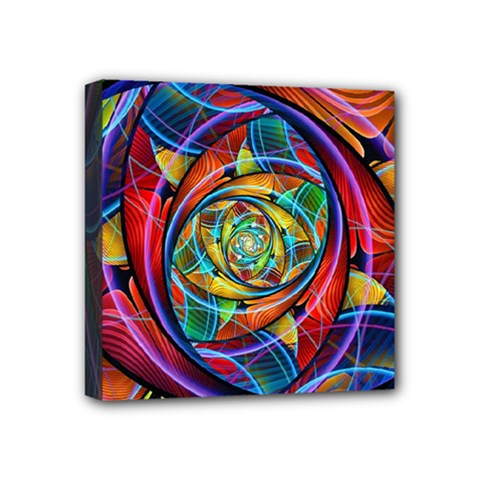 Eye Of The Rainbow Mini Canvas 4  X 4  by WolfepawFractals